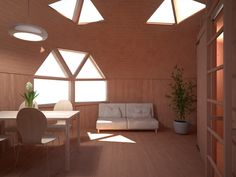 tiny dome interior - lots of space