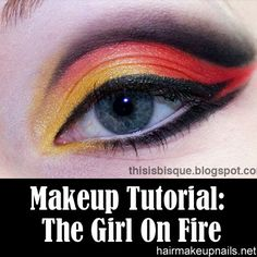 The Girl On Fire Eye Makeup Tutorial