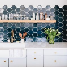 gorgeous & unique use of tile