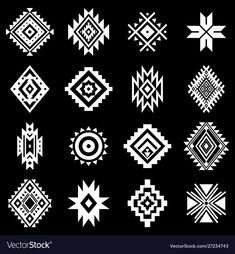 Royalty-Free Vector Images by Vodoleyka (over Motifs Aztèques, Embroidery Motifs, Native American Patterns, Native American Symbols, Motif Design, Pattern Design, Aztec Designs, Aztec Tribal Patterns, Aztec Prints