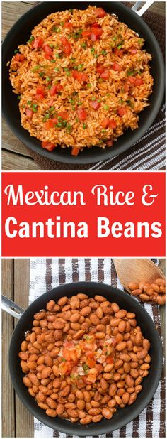 The very best mexican rice with a secret ingredient and cantina pinto beans that. - - The very best mexican rice with a secret ingredient and cantina pinto beans that… - Mexican Beans Recipe, Mexican Beans And Rice, Mexican Pinto Beans, Rice And Beans Recipe, Mexican Rice Recipes, Mexican Dishes, Pinto Beans And Rice, Tostadas, Quesadillas