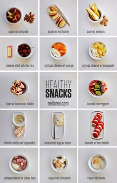 Healthy Snack Ideas, repinned by scrumptbox.com