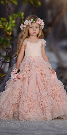 Cute Beaded A-Line Tulle Flower Girl Dresses, Popular Little Girl Princess Dress… Cute Beaded A-Line Tulle Flower Girl Dresses, Popular Little Girl Princess Dresses, Flower Girl Dresses Country, Tulle Flower Girl, Tulle Flowers, Vintage Flower Girls, Little Girl Princess Dresses, Baby Girl Dresses, Baby Dress, Little Girl Wedding Dresses, Little Girl Pageant Dresses