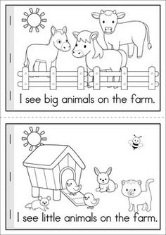 Farm Math & Literacy Worksheets & Activities MEGA Math & Literacy Worksheets & Activities - Down on the Farm. 100 Pages in total! A page from the unit: Emergent Reader (in color and black and white). Comes with comprehension sheet. Farm Animals Preschool, Preschool Learning, Early Learning, Farm Animal Crafts, Farm Activities, Animal Activities, Classroom Activities, Literacy Worksheets, Math Literacy