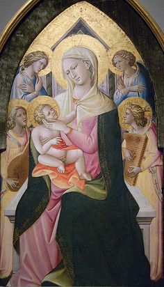 Giovanni di Marco: Madonna and Child with Angels (ca. 1430)