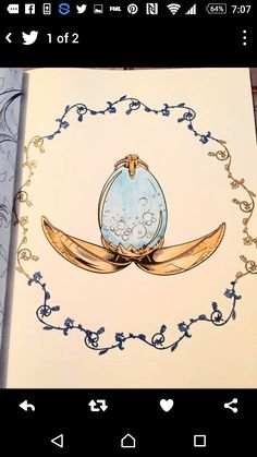 Magnificent watercolor egg