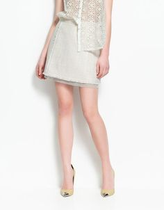 STRUCTURED A LINE SKIRT - Skirts - Woman - ZARA United Kingdom