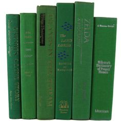 Green Decorative Books Green Vintage Books Home Decor Old Books... (52 AUD) ❤ liked on Polyvore featuring home, home decor, vintage home decor, green home accessories, green home decor and vintage home accessories