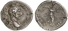 AR Quinarius. Roman Coin, Roman Empire, Hadrianus 117-138 AD. About 119-122 AD. 1,49g. RIC 352, 103b. Good VF. Price realized 2011: 480 USD.