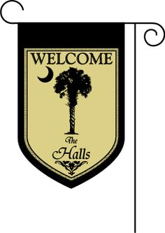 Hey, all you friends from the Palmetto State! Isn't this a great garden flag! From Anderson Avenue . . . my new favorite find!