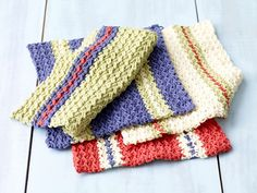 Ravelry: South Beach Washcloth Set pattern by Lion Brand Yarn