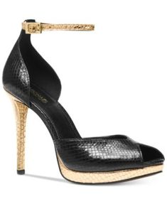 MICHAEL Michael Kors Tiegan Dress Sandals $145.00 MICHAEL Michael Kors merges chic snake-embossed texture with shimmering metallics for a smashing look with any ensemble in these Tiegan platform sandals.