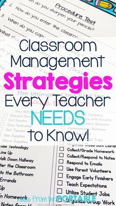 Fabulous classroom management tips! These worked wonders for one teacher's classroom.