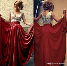 Burgundy Black Pink Champagne Sequins Bridesmaid Dresses Long 2015 Cheap V Neck A Line Evening Gowns 2016 Arabic Prom Dresses Under 100
