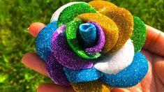 Art and craft using glitter foam sheet - glitter foam sheet rose making Glitter foam sheet rose making Crafts To Do, Arts And Crafts, Foam Sheet Crafts, How To Make Rose, Rose Crafts, Foam Roses, Glitter Art, Foam Sheets, Creative Crafts