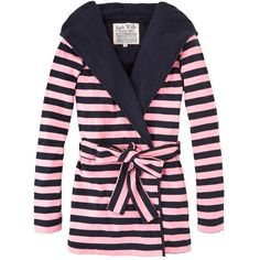 Pull on the Danby Dressing Gown over PJs or loungewear for ultimate comfort on your chill-out days. In the ever-popular Jack Wills stripe. With self-fabric bel…