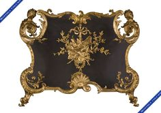 A rare gilt bronze firescreen with espagnolettes signed by François LINKE and BOUHON Frères, circa 1900 Dressing Screen, Charred Wood, Bronze, Wire Mesh, Circa, Antiques, Screens, French, House