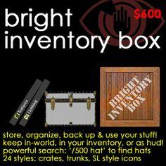 Bright Inventory Box: Inventory organizer