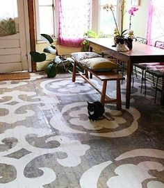gorgeous painted floors-rustic and yes-ravishing!