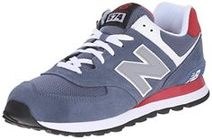 New Balance Men's ML574 Core Plus Pack Running Shoe, Red/Navy mid ...