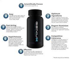 Geniux Review : Shocking Brain Steroid Smart Pills – Brain Supplements Reviews - See more at: www.easybodyfit.c...