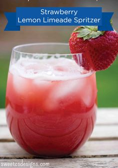Serve this delicious Strawberry Lemon Limeade Spritzer at your next get together in your Hefty® Ultimate™ Easy Grip® Cups for quick and easy cleanup.