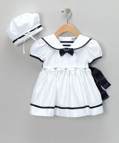 Angels New York White Bow Dress & Cap - Infant & Girls by Anchors Away: Apparel & Accessories on #zulily today!
