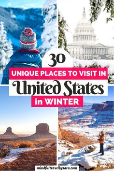 Travel Blog, Usa Travel Guide, Travel Usa, Travel Guides, Travel Luggage, Travel Tips, Best Winter Vacations, Vacations In The Us, Beautiful Places To Visit
