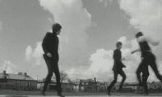 my gif gif Black and White the beatles Paul McCartney john lennon ringo starr george harrison Beatles gif 1960's a hard day's night 1964 Can't Buy Me Love AHDN