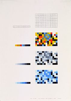 Random and intentional distribution, combination of colors using the aleatoric method (cubes), academic year 1960–61 Lecturer: Anthony Frøshaug Student: Terence Dalley Photo: HfG Archive