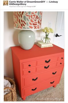Coral dresser, love this spontaneous pop of colour!