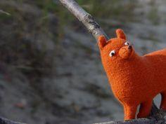 Woodland foxy stuff toy fox stuffed  animal by NataliBright