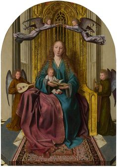 Quentin Metsys, aka Quinten Matsys or Massys (1466-1530): The Virgin and Child Enthroned with Four Angels (1495, The National Gallery, London)