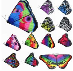 Rainbow butterfly wing costumes that are the perfect size for children 3 and up