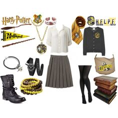 """""""Hufflepuff (:"""" by silverscreencliche on Polyvore"""