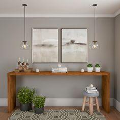 Aparador Gold Imbuia 200 cm in 2020 Home Entrance Decor, Diy Home Decor, Room Decor, Home Office Design, House Design, Narrow Hallway Decorating, Small Balcony Decor, My Ideal Home, Hygge Home