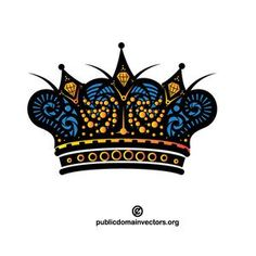Vector Image Of A Crown Publicdomain Vectorgraphics Freevectors Illustrator Clipart