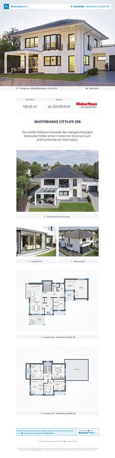 #Stadtvilla CityLife 250 · Weber-Haus · Jetzt bei #Musterhaus.net Unterlagen anfordern!