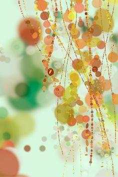 Hanging Beads - 24x36 Fine Art Print - Modern Abstract Art, via Etsy. BTW... visit: http://artcaffeine.imobileappsys.com/