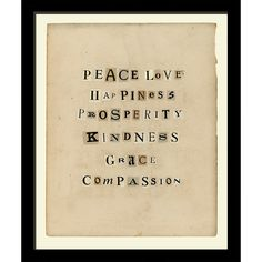 Peace & Love Framed Wall Art II