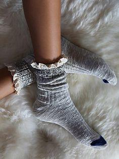 heathered socks / free people