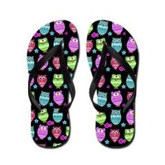 cute owl flipflops