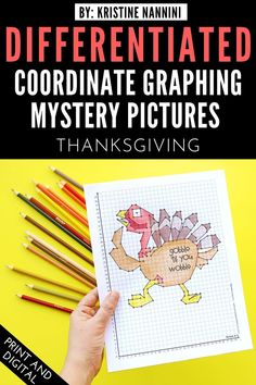 Thanksgiving Coordinate Graphing Mystery Pictures - 'Gobble til' You Wobble' - Your 3rd, 4th, 5th, and 6th grade upper elementary students will love plotting these ordered pairs to create a mystery picture. Differentiated options allow for students to work with whole numbers, negative numbers, and decimals. Click through to see how you can use this download for both in-person and online classrooms. #UpperElementary #KristineNannini #MysteryPictures Negative Numbers, Online Classroom, Mentor Texts, Thanksgiving Activities, Math Concepts, Special Education Teacher, Upper Elementary, One Pic, Mystery