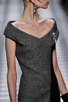 Balenciaga Fall 2015. I wish... Lovely neckline, but the shape and cut suits very few body types, sadly not mine