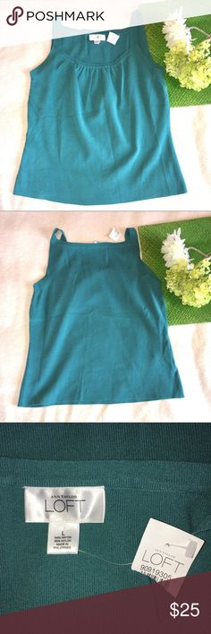 LOFT | nwt teal stretchy cami Length: 22"