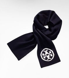 Tory Burch Navy & White scarf... perfect for cold games