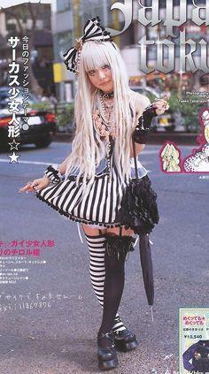 #gothic #lolita #bow #stripes #kawaii