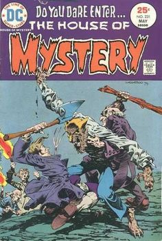 The House of Mystery 231 DC Comics Wrightson Werewolf Tales of Horror Fear Terror Scary Creepy Nightmare 1975 VG/FN by LifeofComics Rare Comic Books, Comic Books For Sale, Comics For Sale, Comic Book Artists, Comic Book Covers, Scary Comics, Sci Fi Comics, Horror Comics, Fantasy Comics