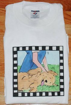 Golden Retriever The Spot T shirt by JennysDogArt on Etsy, $15.00