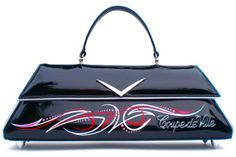 Coupe deVille Black with Pinstripe. Couture Vintage Car inspired Handbag. Handmade in the USA by RevampProductions, $390.00